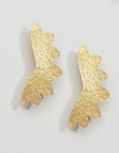 Серьги-гвоздики Made Otoua - Золотой
