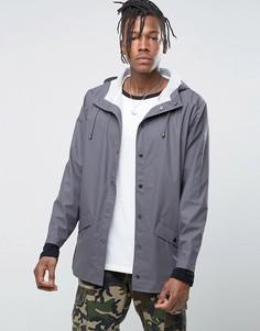 Короткая водонепроницаемая куртка дымчатого цвета Rains - Серый