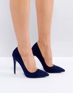 Темно-синие туфли-лодочки с острым носом Public Desire - Темно-синий