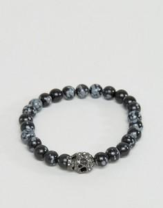 Браслет с кристаллами Swarovski Simon Carter - Черный