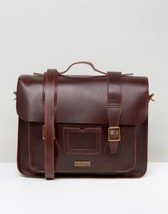 Красный кожаный портфель Dr Martens 15 - Красный