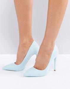 Голубые туфли-лодочки с острым носом Public Desire - Синий