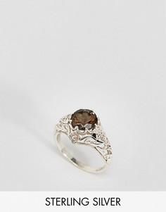 Серебряное кольцо с дымчатым кварцом Regal Rose Love Hurts - Серебряный