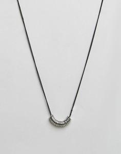 Матовое черное ожерелье с дисками Icon Brand - Черный