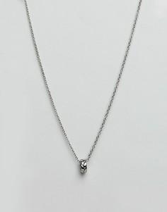 Серебристое ожерелье с восьмигранной подвеской Icon Brand - Серебряный