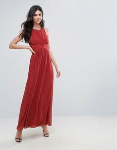 Вечернее платье макси с драпировкой BCBG - Оранжевый