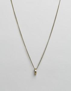 Золотистое ожерелье с круглой подвеской Icon Brand - Золотой