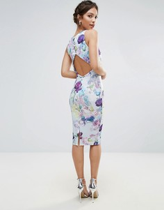 Платье-футляр с открытой спиной и принтом Hope & Ivy - Синий