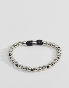 Серебристый браслет из бусин Icon Brand - Серебряный