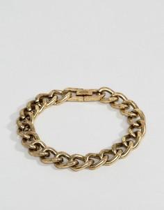 Массивный браслет-цепочка золотистого цвета Icon Brand - Золотой
