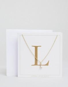 Ожерелье c буквой L Johnny Loves Rosie - Золотой