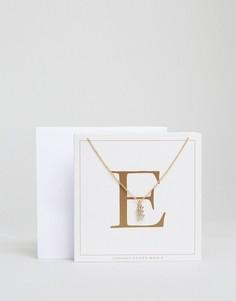 Ожерелье c буквой E Johnny Loves Rosie - Золотой