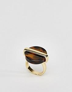 Кольцо с черепаховой отделкой ASOS - Золотой