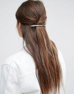 Заколка для волос ограниченной серии с крупной декоративной планкой - Серебряный Asos