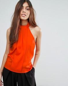 Майка-халтер с плиссировкой Vesper - Оранжевый