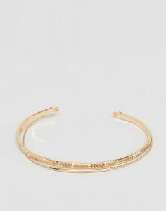 Браслет-манжета с цепочкой ASOS - Золотой