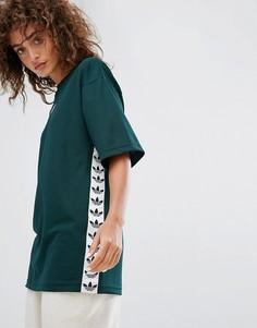 Зеленая футболка с отделкой лентой adidas Originals Tnt - Зеленый