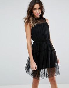 Приталенное платье мини с бретельками ASOS - Черный
