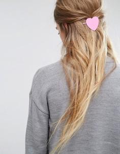 Заколка для волос ограниченной серии с сердцем - Розовый Asos