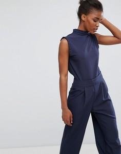 Рубашка в оборкой на воротнике Alter - Темно-синий