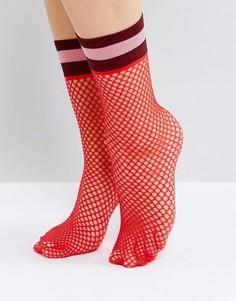 Красные носки из сеточки ASOS - Красный