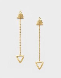 Серьги-подвески с треугольниками Ottoman Hands - Золотой