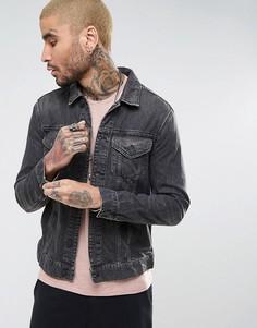Джинсовая куртка AllSaints - Черный