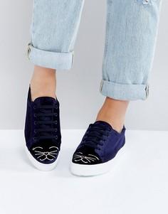 Кроссовки на шнуровке ASOS DIMPLES - Темно-синий