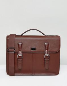 Кожаный портфель Ted Baker Bengal - Коричневый