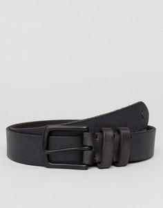 Узкий кожаный ремень AllSaints - Серый