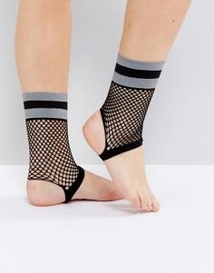Носки из сеточки со штрипками ASOS - Черный