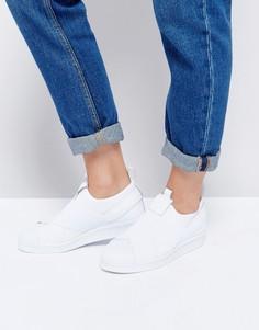 Белые кроссовки-слипоны adidas Superstar - Белый