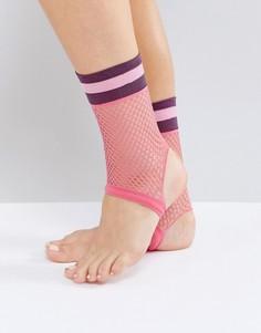 Носки из сеточки со штрипками ASOS - Розовый