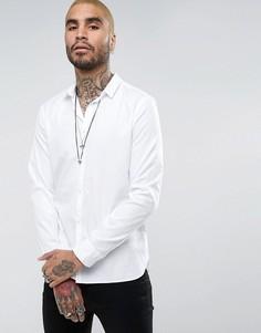 Удлиненная рубашка классического кроя AllSaints - Белый