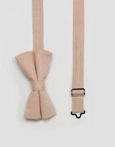Фактурный розовый галстук-бабочка ASOS - Розовый
