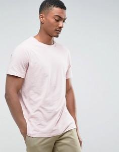 Меланжевая футболка Weekday - Розовый