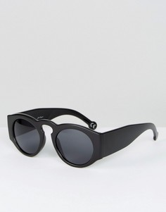 Круглые солнцезащитные очки в толстой оправе Jeepers Peepers - Черный