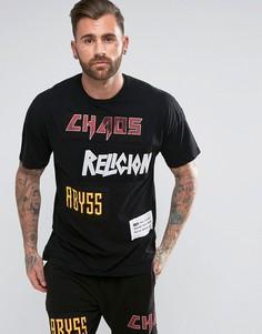 Футболка с нашивками Religion - Черный