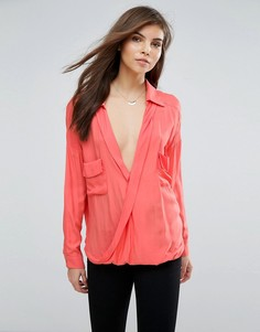 Блузка с запахом Forever Unique - Оранжевый