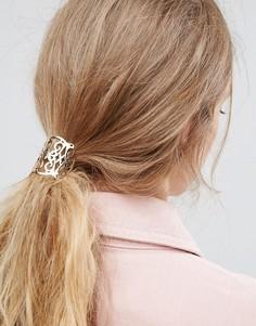 Резинка для волос с филигранным дизайном ASOS - Золотой