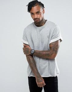 Теплая флисовая футболка Religion - Серый