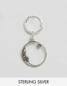 Серебряная серьга-кольцо Regal Rose - Серебряный