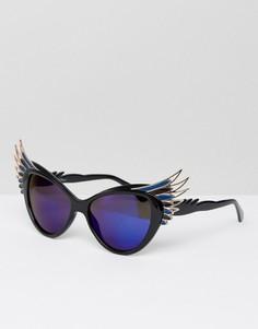 Солнцезащитные очки с синими стеклами Jeepers Peepers - Черный