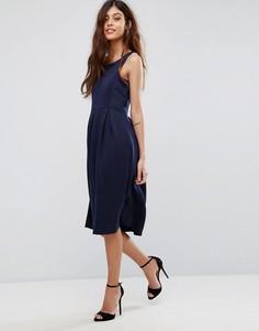 Приталенное платье миди для выпускного Be Jealous - Темно-синий