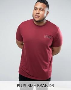 Бордовая футболка с логотипом Defend London PLUS - Красный