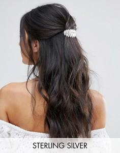 Посеребренная заколка для волос Avigail Adams - Серебряный