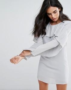 Платье с рукавами-оборками Love & Other Things - Серый