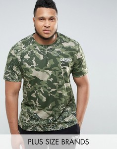 Камуфляжная футболка с принтом Defend London PLUS - Зеленый