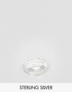 Матовое серебряное кольцо с тиснением ASOS - Серебряный