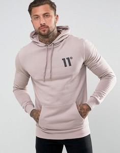 Розовый худи с логотипом 11 Degrees - Розовый